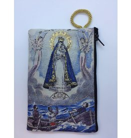 Oremus Mercy Small Rosary Pouch -Our Lady of Charity (3″ x 4″)