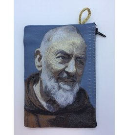 Oremus Mercy Small Rosary Pouch -Padre Pio (3″ x 4″)
