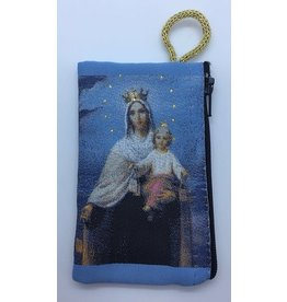 Oremus Mercy Small Rosary Pouch – Our Lady of Mount Carmel (3″ x 4″)