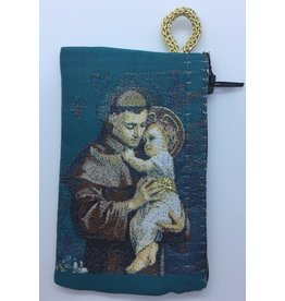 Oremus Mercy Small Rosary Pouch -St. Anthony (3″ x 4″)