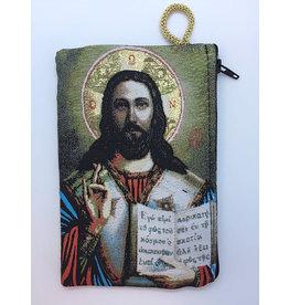 Oremus Mercy Medium Rosary Pouch – Christ Teacher (4″ x 6″)