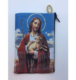 Oremus Mercy Medium Rosary Pouch – The Good Shepherd (4″ x 6″)