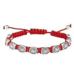 CBC St. Michael Medal Cord Bracelet - Red