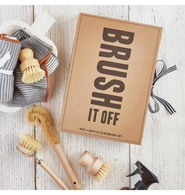 Santa Barbara Designs Brush it off - Pot and Bottle Scrubbing set