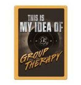 """Rivers Edge Products Tin Sign 12""""x17"""" -  Group Therapy"""