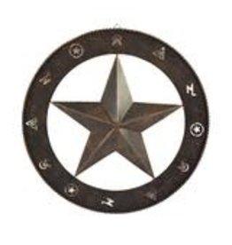 Rivers Edge Products Rustic Metal Wall Art 15in  - Barn Star