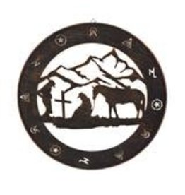 Rivers Edge Products Rustic Metal Wall Art 15in  - Praying Cowboy