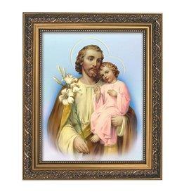 "Christian Brands St Joseph Framed Print - Adams 13"" - Blue Background"
