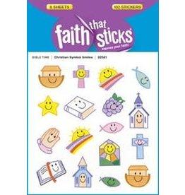 Faith that Sticks Christian Symbol Smiles - Stickers