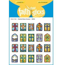 Faith that Sticks Stained Glass Crosses - Stickers