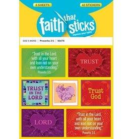 Faith that Sticks Proverbs 3:5 - Stickers