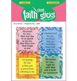 Faith that Sticks I Prayed for You - Stickers