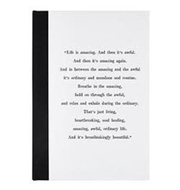 Face to Face Designs Life is Amazing - Hard Cover Linen Journal