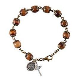 Christian Brands Rosary Bracelet St Benedict - Italy