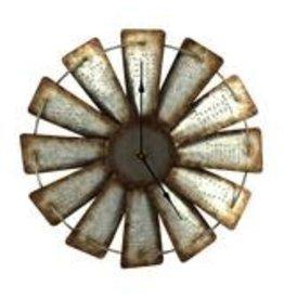 "Rivers Edge Products Clock - 15"" Windmill"