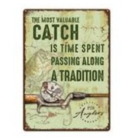 """Rivers Edge Products Most Valuable Catch - Tin sign 12"""" x 17"""""""
