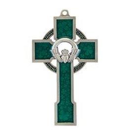 Jeweled Cross Claddagh Celtic Cross - Made in USA