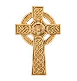 "Jeweled Cross Claddagh Celtic Cross - 8""  Made in USA"