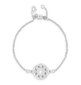 Sterling Silver Star of David Mandala Bracelet