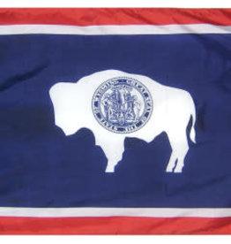 Annin Wyoming State Flag Nylon Flag - 2x3 ft.