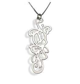 Sterling Silver Blooming Rose Necklace