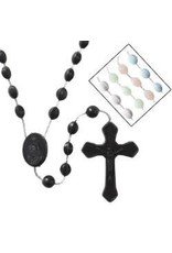 Autom Black  Cord Rosary -2 pc center