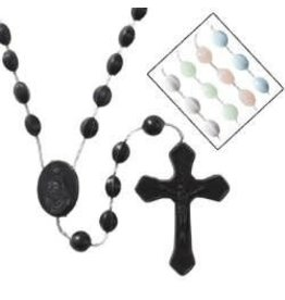 Autom Pink Cord Rosary -2 pc center