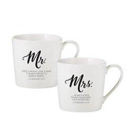 Faithworks Mr & Mrs Café Mug - Set