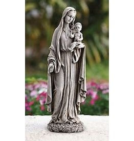 """Avalon Gallery 23"""" Our Lady of Grace and Baby Jesus Garden Statue"""
