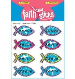 Faith that Sticks Fish Symbols -Stickers