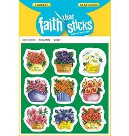 Faith that Sticks Patio Pots  -Stickers