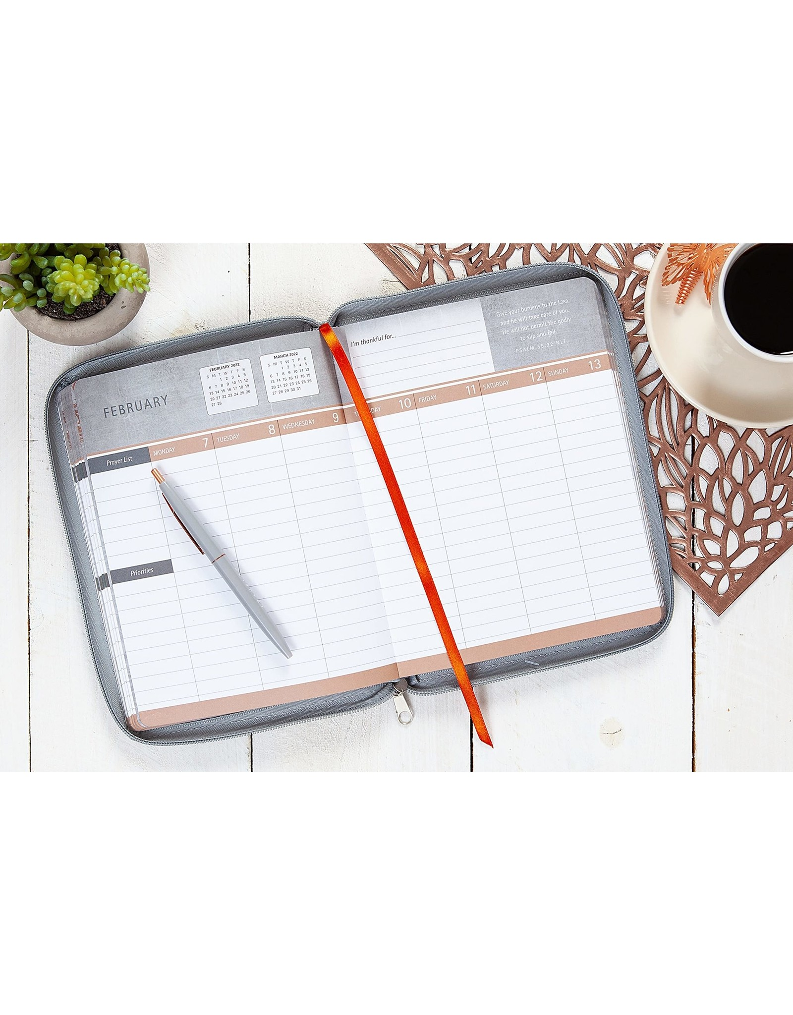 Be Still + Plan- 18 month Planner 2022 -Imitation Leather