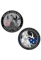 Thin Blue Line USA Challenge Coin - Limited Edition Police Week 2021