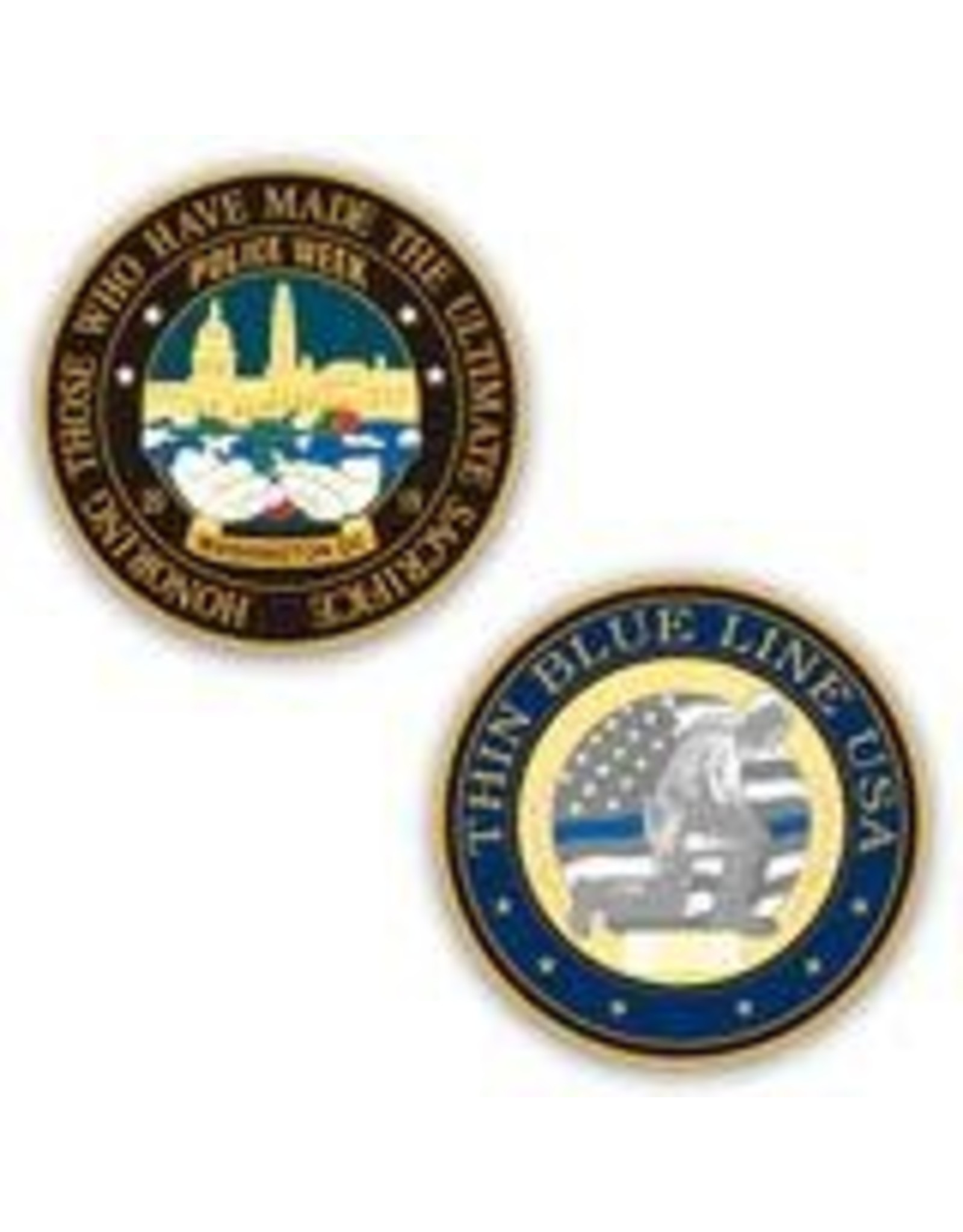 Thin Blue Line USA Challenge Coin - Limited Edition Police Week 2019
