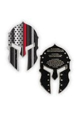 Thin Blue Line USA Challenge Coin - Spartan - Thin Red Line