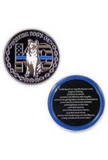 Thin Blue Line USA Challenge Coin - K9 - Working Dog's Oath
