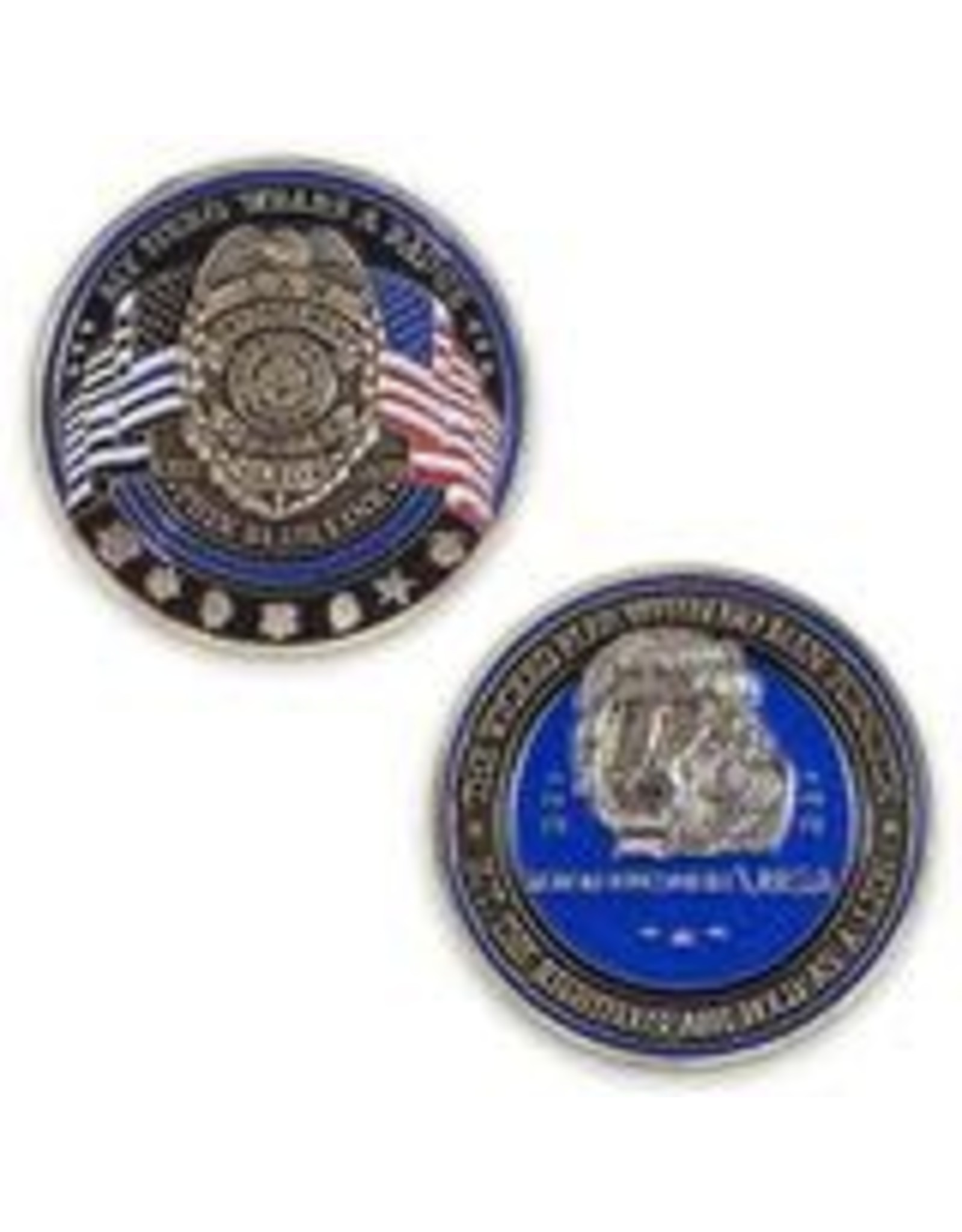 Thin Blue Line USA Challenge Coin - Lion