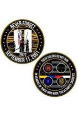 Thin Blue Line USA Challenge Coin - September 11th, 2001 Memorial