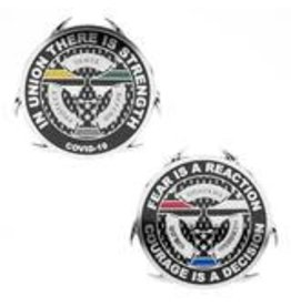 Thin Blue Line USA Challenge Coin - 2021 First Responder COVID-19