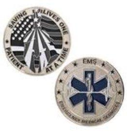 Thin Blue Line USA Challenge Coin - EMS Thin White Line