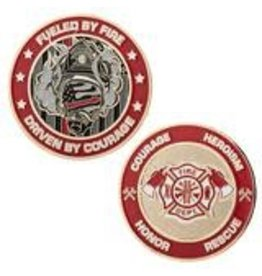 Thin Blue Line USA Challenge Coin - Firefighter's Thin Red Line