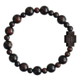 Rosary Bracelet  Jujube Wood 10mm