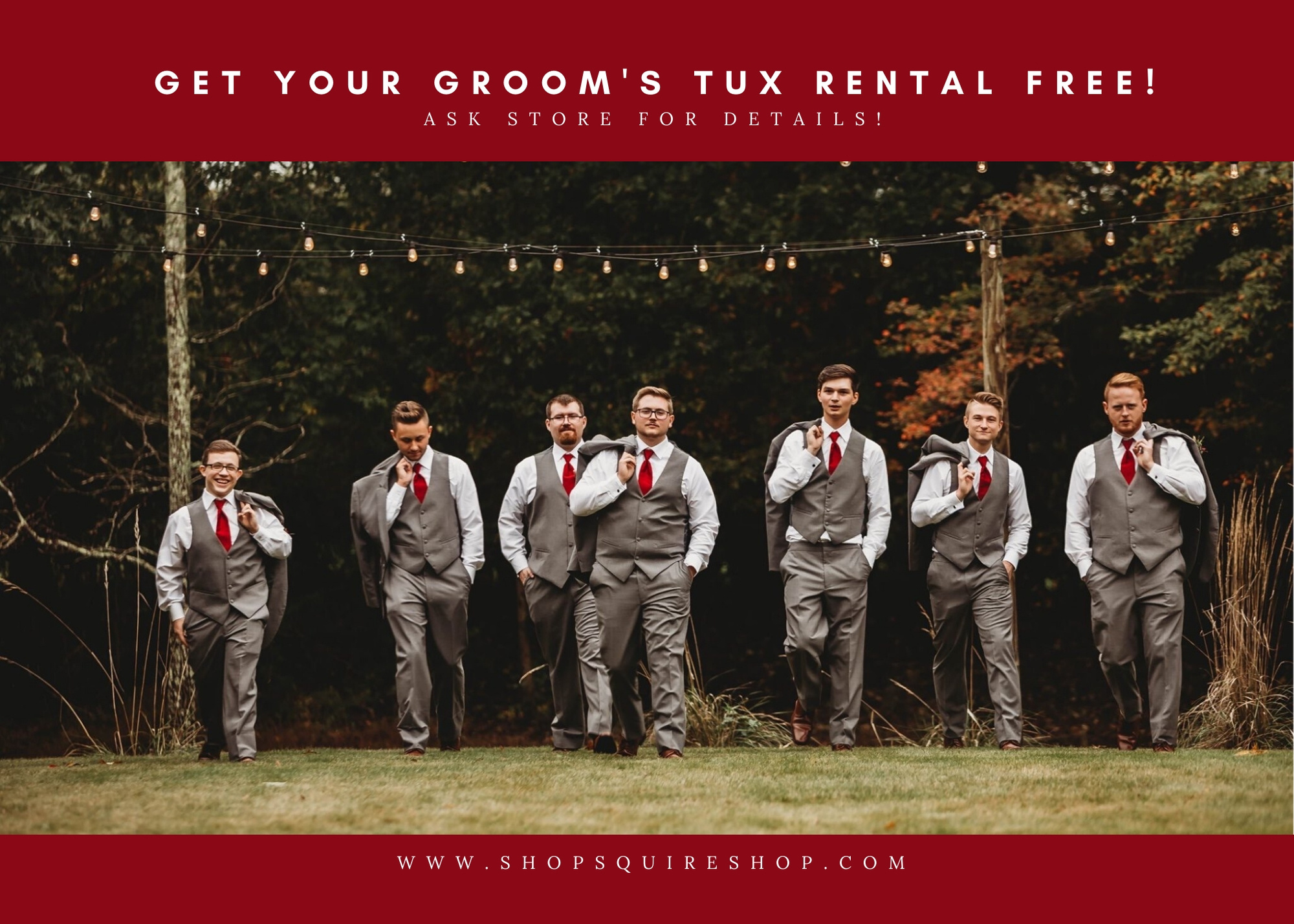 Ring Bearer Special Pricing on Tuxedo Rental