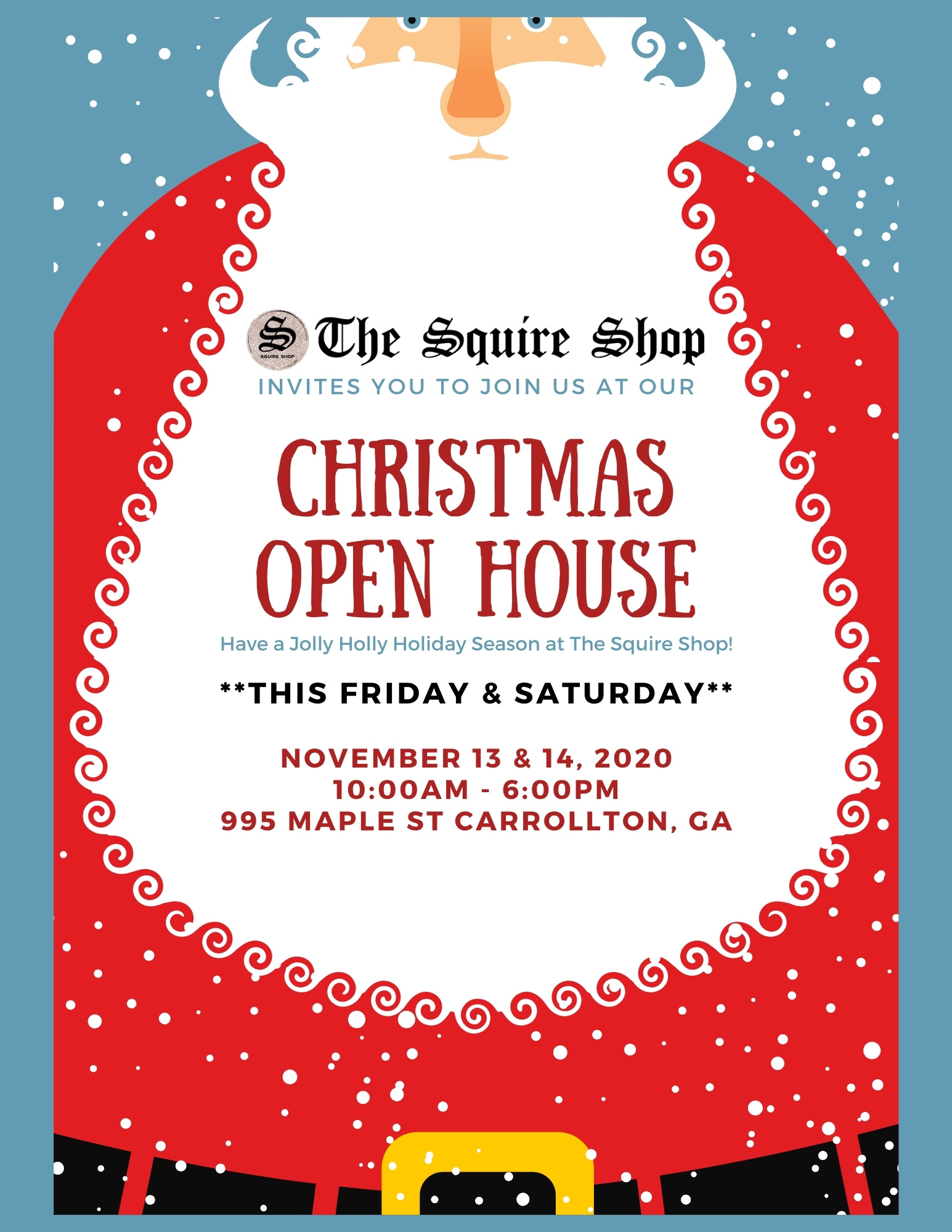 christmas open house 2020 | Squire Shop