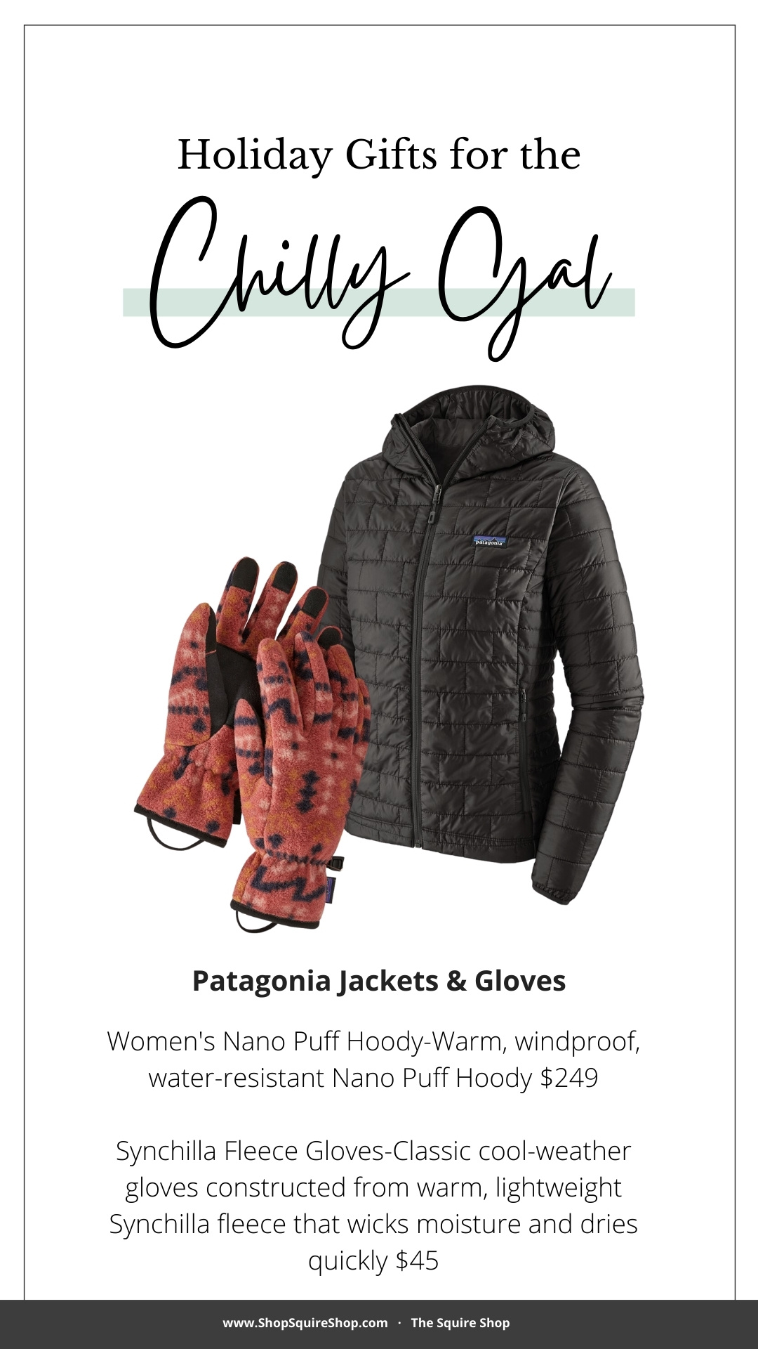 Gift Guide | Chilly Gal Patagonia