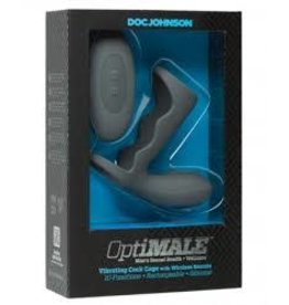 Doc Johnson OptiMALE - Vibrating Cock Cage with Wireless Remote