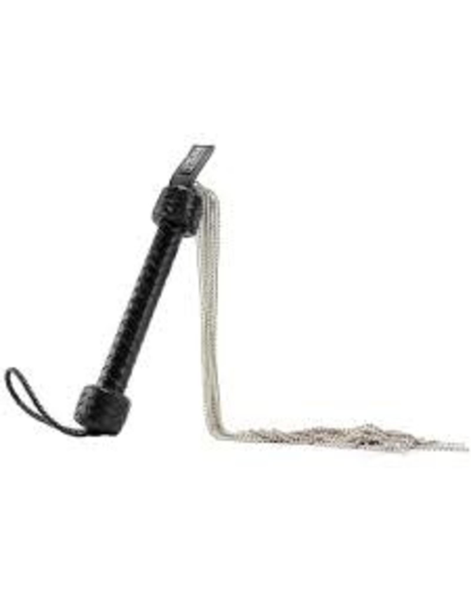 SHOTS Pain Silver Ball Chain Flogger