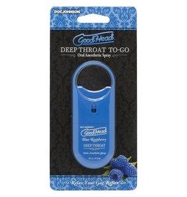 Doc Johnson Good Head - Deep Throat To-Go (Blue Raspberry)