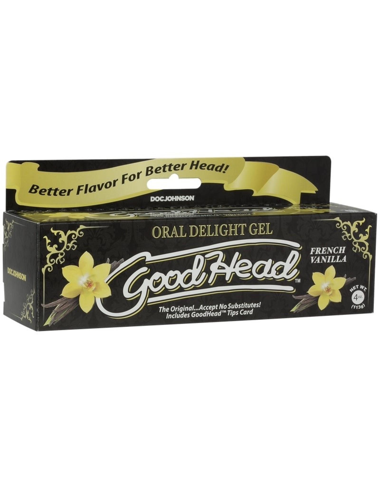 Doc Johnson Good Head Oral Delight Gel - French Vanilla (4 oz)
