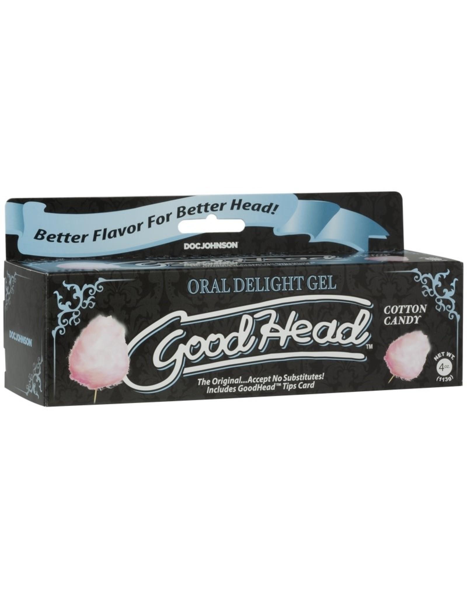 Doc Johnson Good Head Oral Delight Gel - Cotton Candy (4 oz)